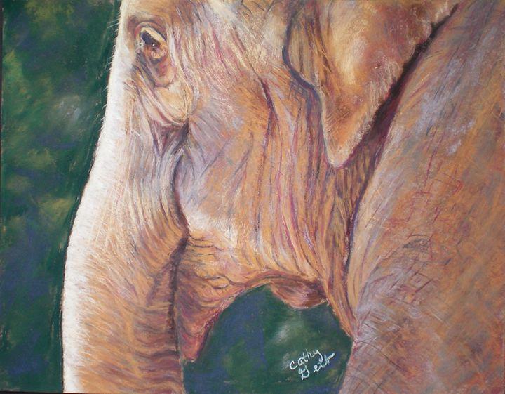 It's Hard Getting Old - Cathy E Geib Art