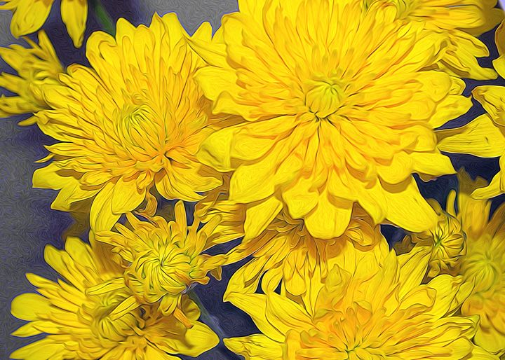 Yellow Bouquet - Frozen Face