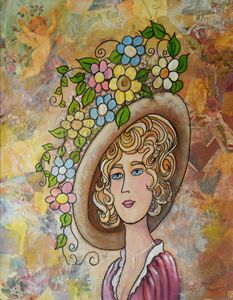 Lady with Flowers in her Hat