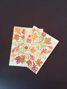 Fall Leaves Blank Card