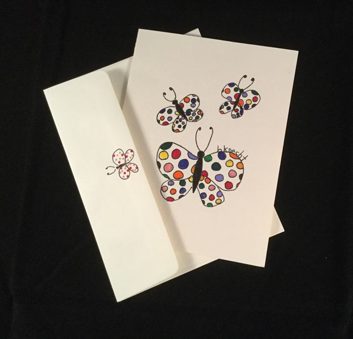 Blank Whimsical Butterfly Card - hkOriginals