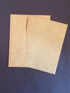 Embossed Fall Leaves Cards Set of 5