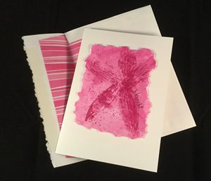 Fuchsia Leaf Print Watercolor Card