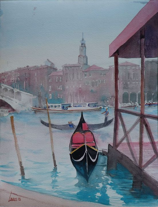 Gondola station, Venice - Laris