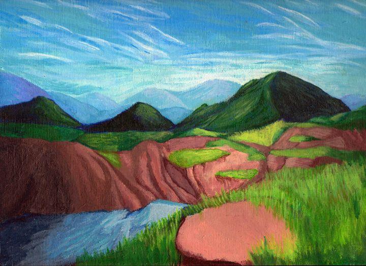 Acrylic Mountain Landscape - Matthew Glass Art