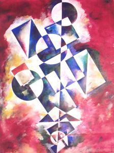Colours with geometric shapes