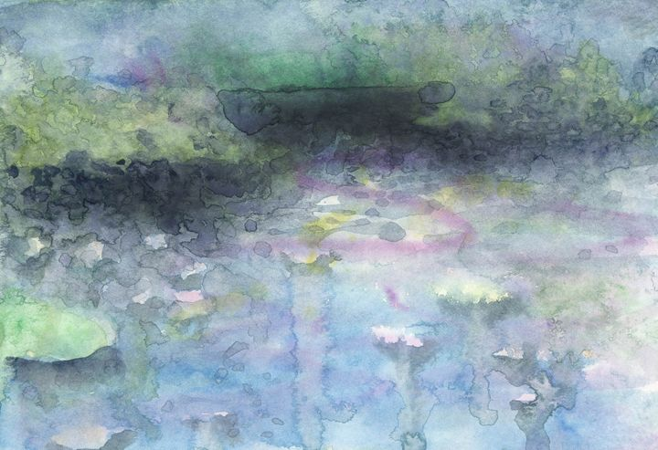 Waterlily pond - Christina Rahm Art
