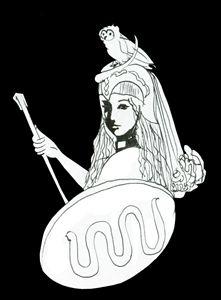 Pallas Athena - Christina Rahm Art