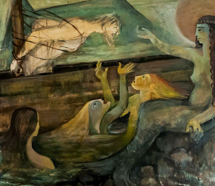 Odysseus and Sirens - Bildo Fabriko