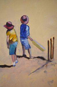 Beach Cricket - White Dog Studio - AJ Northover