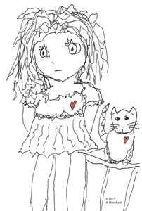 Small girl with kitty