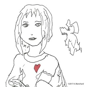 Girl and animal friend