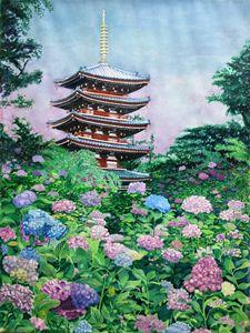 Hydrangea at Hon Doji, Japan