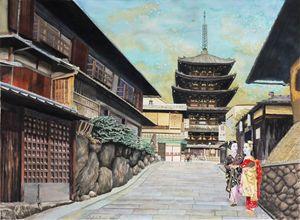Two geisha in Kyoto