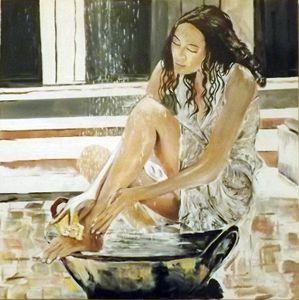 Bathing my feet in the sunshine
