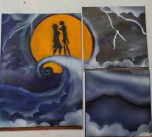 Jack and Sally moonlight