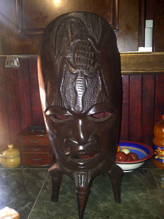 African tribal Mask - African Warrior Art Studios