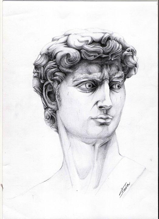 pencil drawing - david - artmishel
