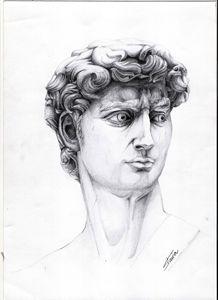 pencil drawing - david