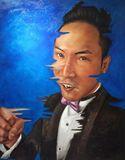 100cm X126cm portrait of chinese man