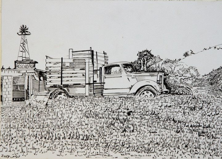 The truck in the field - Pazit Goldstein