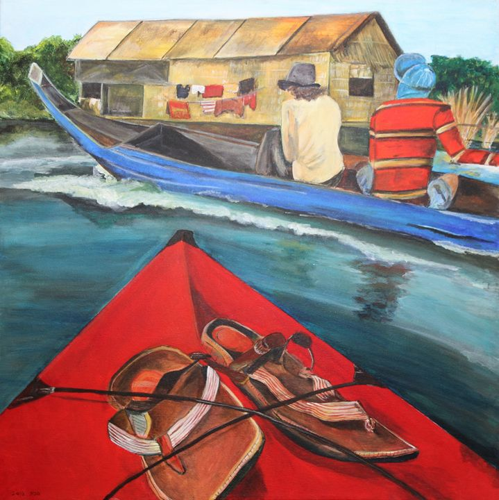 On a boat - Pazit Goldstein
