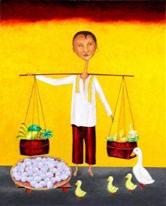 """Fruit and """"Balot"""" Vendor"""