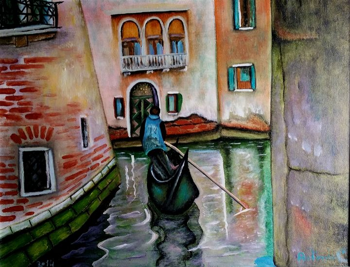 the gondolier of Venice - art of web