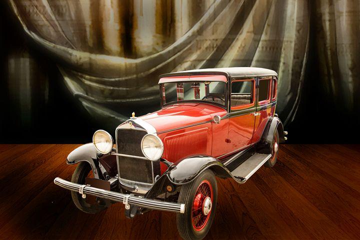 1929 Willys Knight Classic Car 4547 - M K Miller III