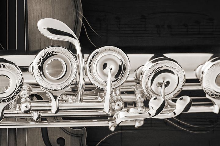 Flute Music Instrument Keys Photogra - M K Miller III