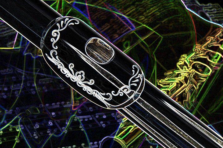 Flute Music Instrument Lip Plate Dra - M K Miller III