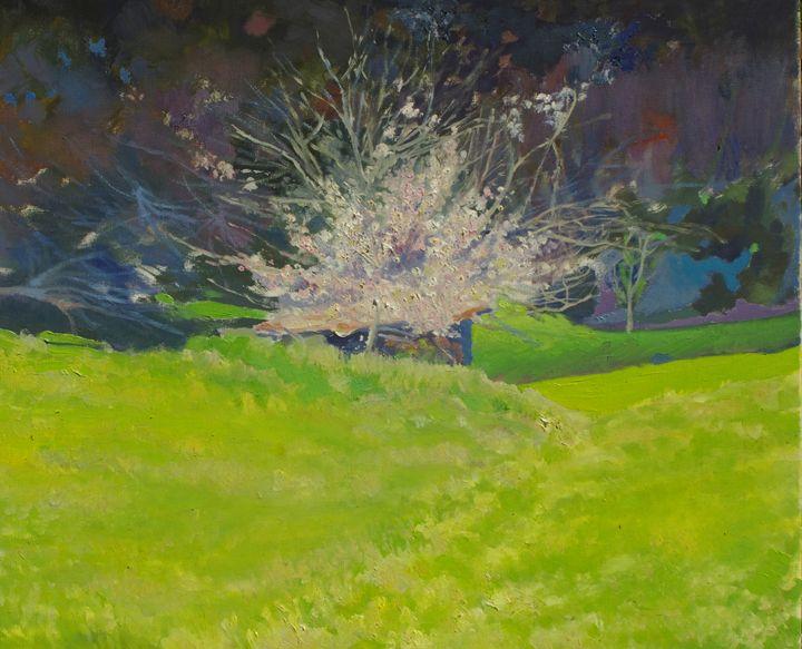almond in the high meadow - jose perlado-watercolors