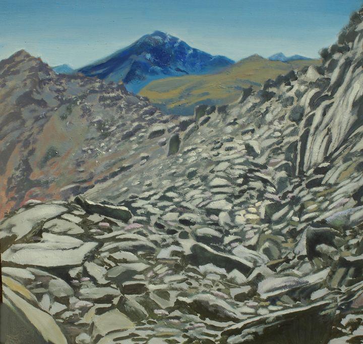 high mountain landscape - jose perlado-watercolors