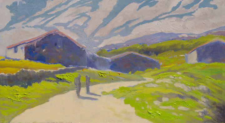 hamlets at mountain's port - jose perlado-watercolors