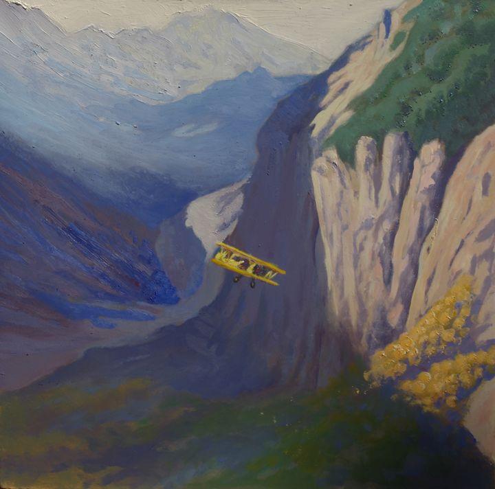 autumnal flight - jose perlado-watercolors