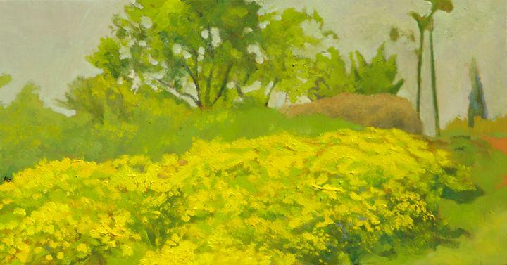 Spring at Madrid - jose perlado-watercolors