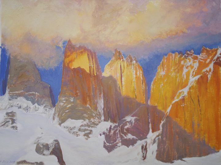 Paine Towers - jose perlado-watercolors