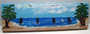 SeaScape Key Organizer, Hand Painted