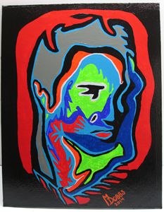 ELVIS PRESLEY MODERN ABSTRACT