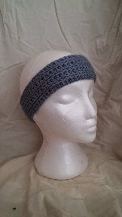 Hand crocheted headband - Card's Crafts