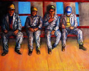 CONCRETE - Oil on Canvas 80x100 cm