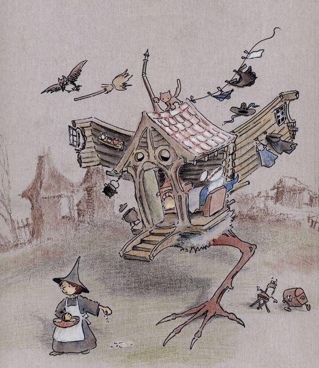 The Hut On Chicken Leg - InkPaint