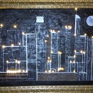 LA skyline at night