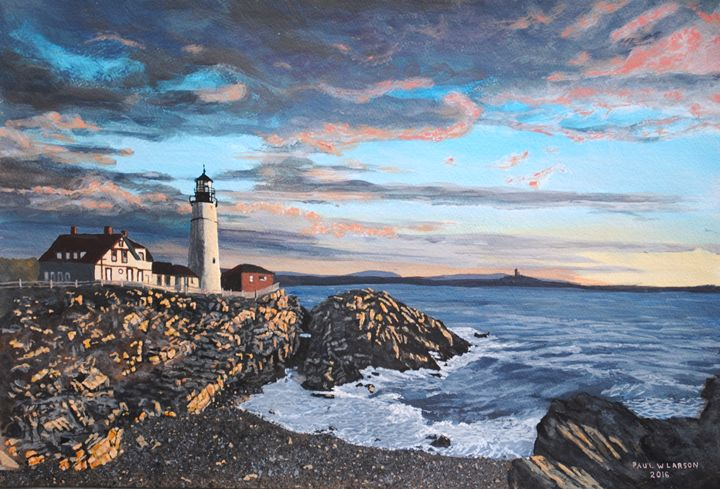 A New Day at Portland Head - Paul Larson's Artwork