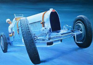 Bugatti Type 37 - Paintings by Krzysztof Tanajewski