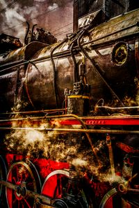 Vintage Train - In Steam photo - digimatic