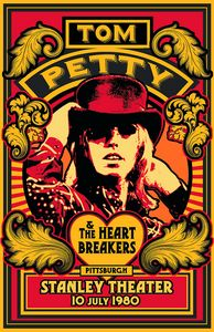 TOM PETTY & The Heartbreakers 1980 - David Edward Byrd Posters