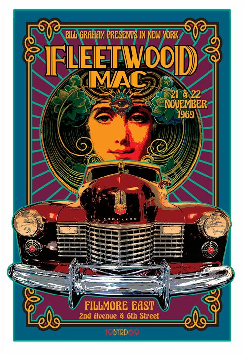 FLEETWOOD MAC Fillmore East '69 - David Edward Byrd Posters
