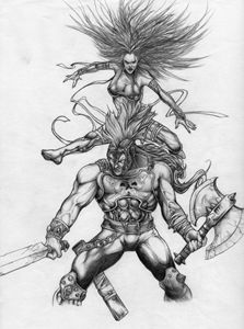 Psylocke and Ares