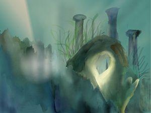 The greenish sea
